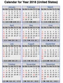 Calendar Religios 2018 Timeanddate 2018 Calendar Us Print