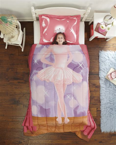 new ballerina girls 2 pc photo realistic comforter sham