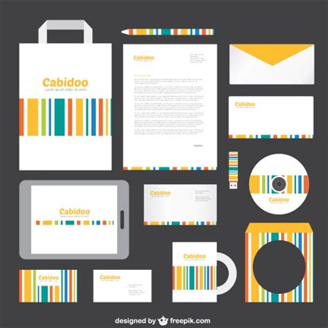 branding templates template for branding identity vector free