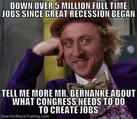 Economic Memes - unemployment jokes meme 171 wall street funnies economy