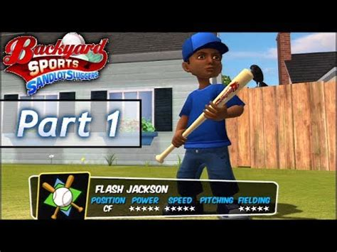 backyard baseball part 1 flash jackson jr vs pablo