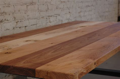 wood plank table top 100 mile table strawville