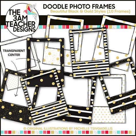 doodle glam drawing new year s glitter glam doodle photo frames