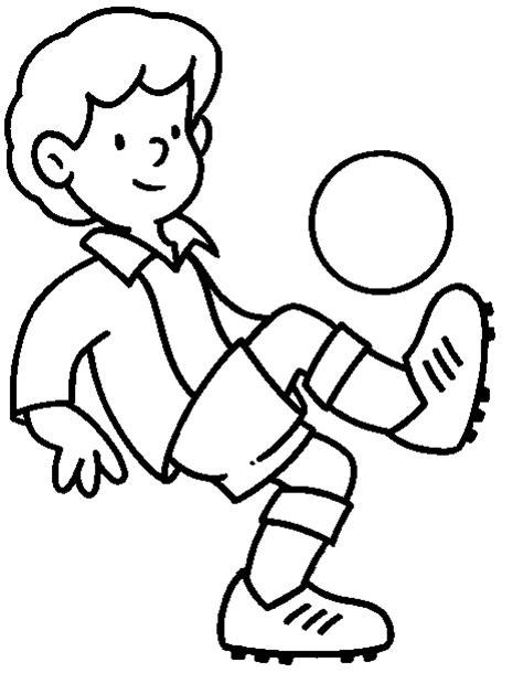 imagenes de niños jugando futbol para dibujar colorear jugador de futbol