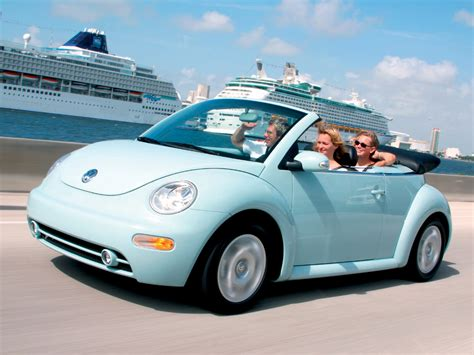 blue volkswagen beetle vw cabriolet light blue at speed 1280x960