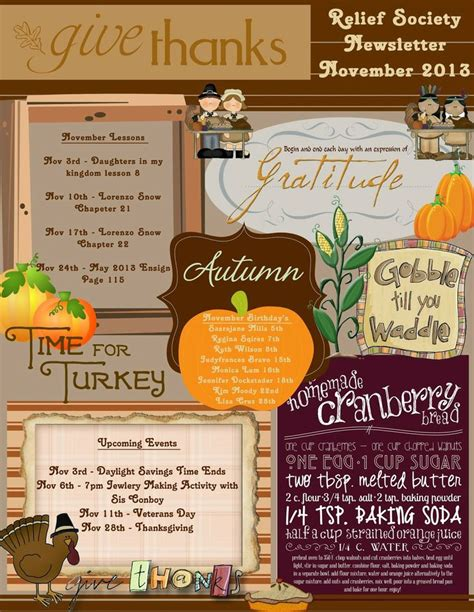 latest thanksgiving newsletter ideas leftovers business cards