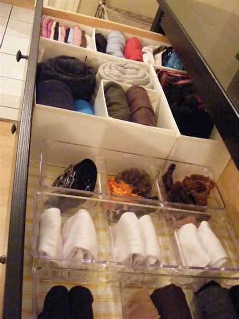 Sock Drawer Organization by Folding Clothes Organization