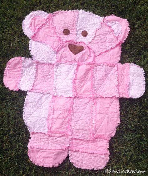 pattern for baby clothes teddy bear teddy bear rag quilt pattern easy video instructions