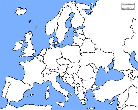 Map Quiz Europe by Blank Europe Map Quiz