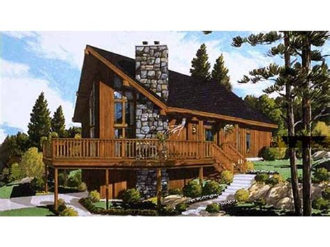 chalet home home plan homepw70538 1468 square foot 3 bedroom 2