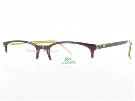 stylish designer semi rimless lacoste 4800 eyeglasses ebay