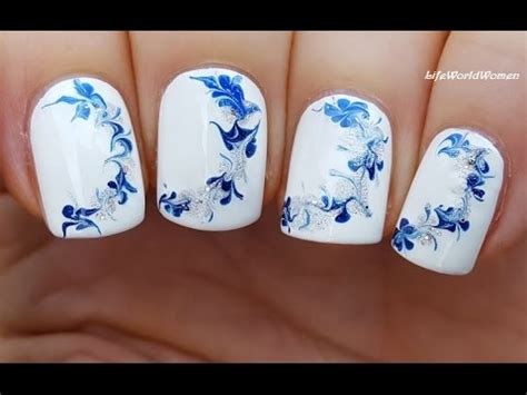 nail art needle pen tutorial needle nail art 14 winter drag marble nails tutorial