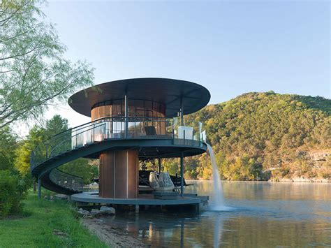 Shore Vista Boat House, Lake Austin, Texas by Bercy Chen