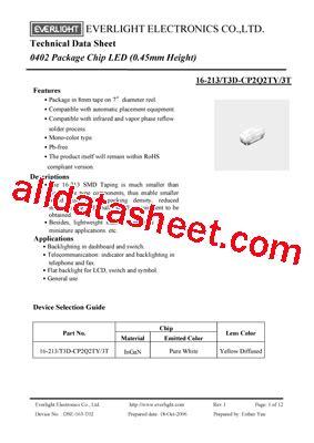 t3d diodo zener datasheet 16 213 t3d cp2q2ty 3t datasheet pdf everlight electronics co ltd