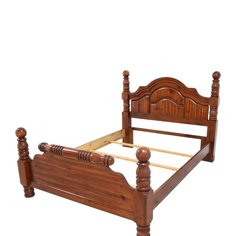 90 Off Wood Mini Four Poster Queen Bed Frame Beds Used Bed Frame