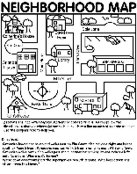 neighborhood map coloring page neighborhood map coloring pages preschool neighborhood