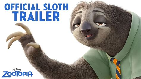 disney film zootopia trailer zootopia 2016 official us sloth trailer trailer list