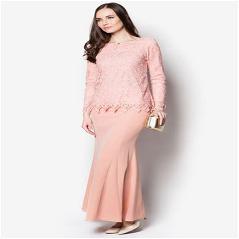 design baju lace new hot sales fashion lace design baju kurung moden 2015