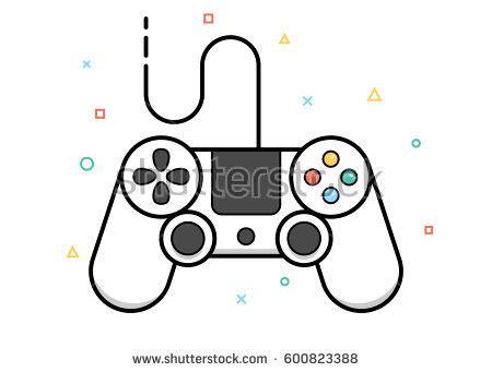 game design qualities vector gamepad icon game controller concept stock vector