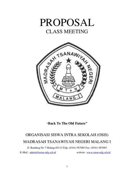 membuat proposal class meeting contoh proposal osis