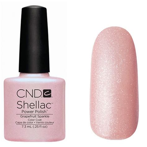 cnd vinylux topcoat and polish in grapefruit sparkle kaydee cosmetics