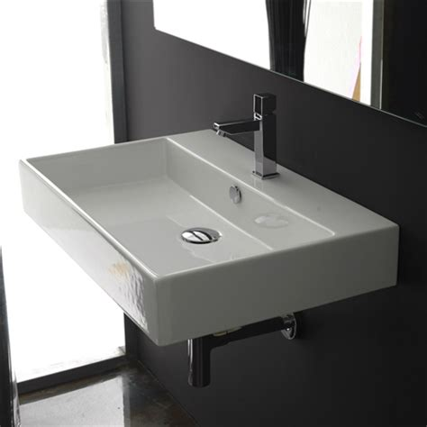 Modern Rectangular Bathroom Sinks Modern Rectangular Ceramic Vessel Bathroom Vanity Sink