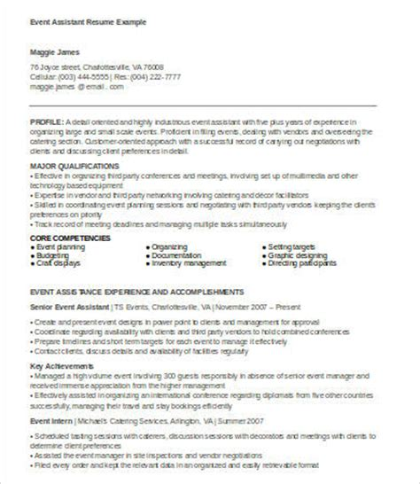Sle Resume For Event Planner Assistant 28 Event Planner Assistant Resume Event Planning Assistant Resume Sales Assistant Lewesmr 6