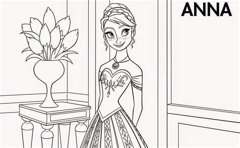 frozen coloring pages of anna instant knowledge