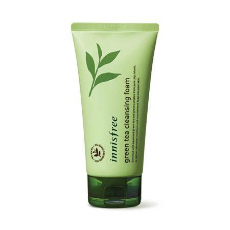Pelembab Innisfree produk perawatan kulit green tea cleansing foam innisfree