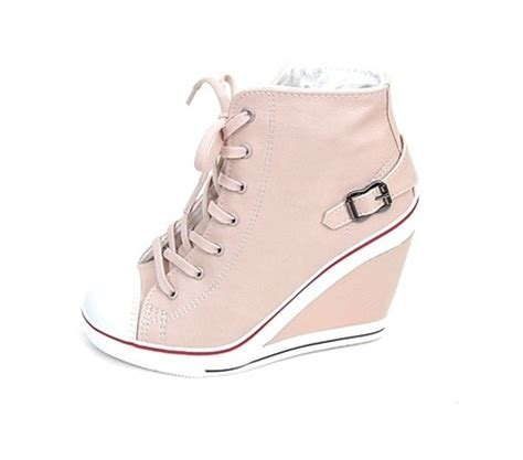 high heel tennis shoes for s wedge high heels high top sneakers tennis shoes