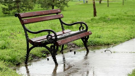 hd bench raining park bench stock footage video 3718151 shutterstock