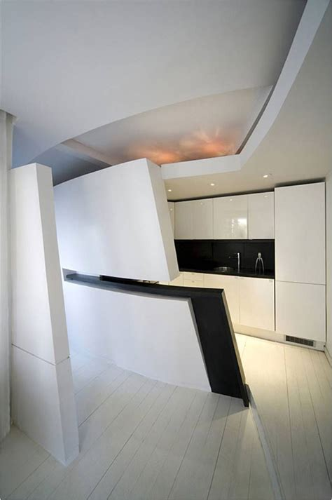 futuristic penthouse apartment  madrid