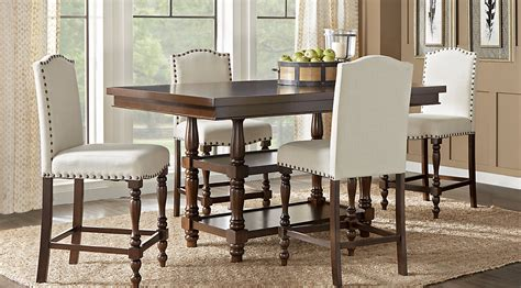 glass top dining room table sets with chairs inside high