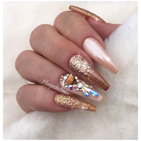 Fashion Nails by Gold Coffin Nails Fashion Nail Design Nails
