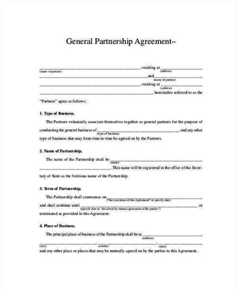 Rpo Agreement Template 28 Images Rto Partnership Agreement