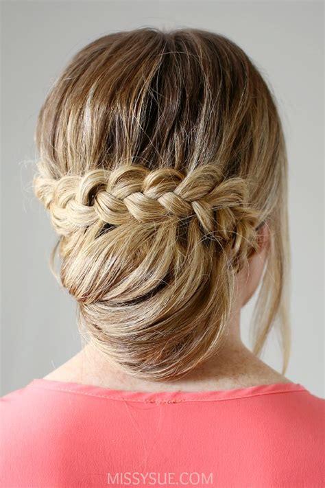 braid wrapped chignon updos cute girls hairstyles lace braid wrapped bun girls girls girls pinterest