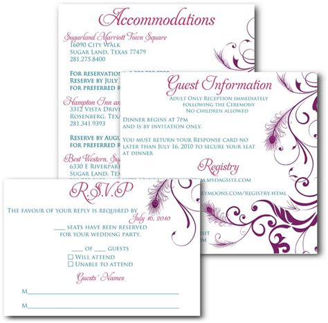 inserts for cards templates wedding invitations and inserts search wedding