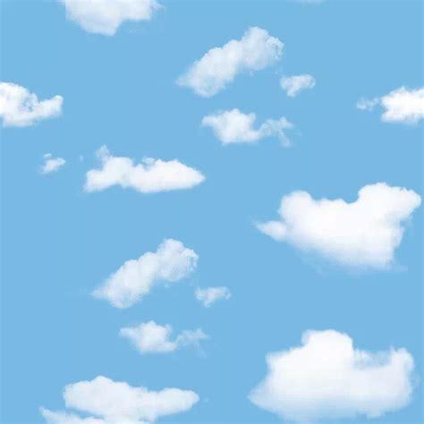 Walpaper Sticker Dinding Awan Putih Biru langit biru sederhana anak anak tidur ruang latar belakang wallpaper langit langit wallpaper