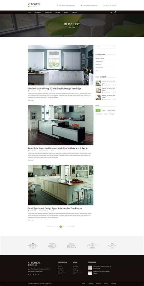 themeforest blog listing kitchen psd template by qtcmedia themeforest