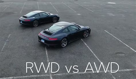 which porsche 911 is right for you rwd vs awd
