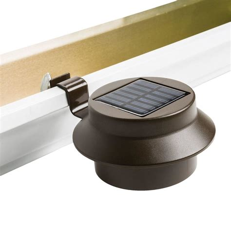 solar powered gutter light reviews solar powered led gutter door wall fence lights outdoor