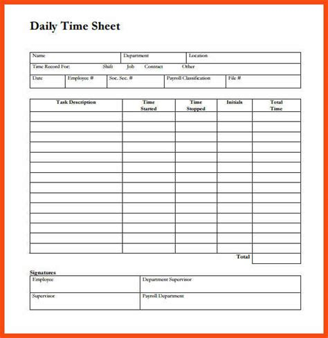 sle time sheet program format