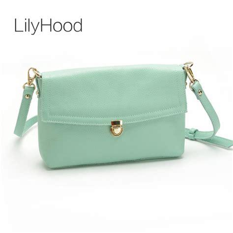 Tas Handbag Hds Two Colours Light Green lilyhood genuine leather summer small shoulder bag leisure pastel color pink