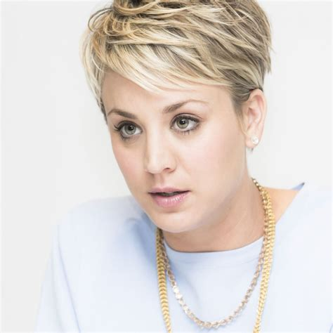 big bang blonde short hair cut pictures kaley cuoco wedding ringer photoshoot hawtcelebs