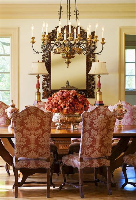 red  gold   luxurious traditional dining room red