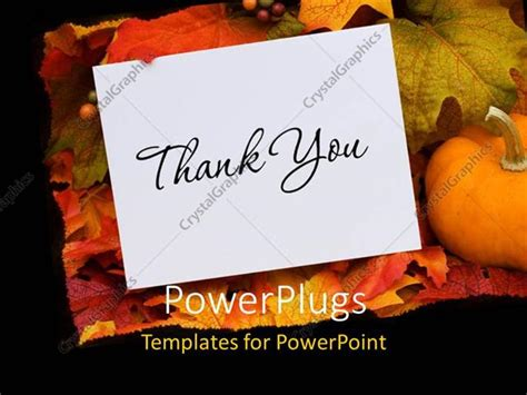 power point template for thank you card powerpoint template thank you card with a gourd sitting