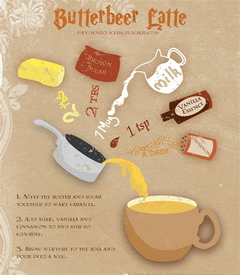 butterbeer latte visual ly
