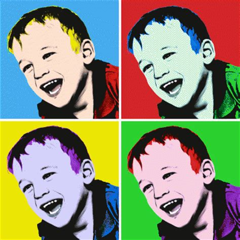 andy warhol style photo canvas prints for gift ideas