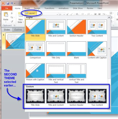auto layout powerpoint 2010 how master slides work in a ms powerpoint 2010
