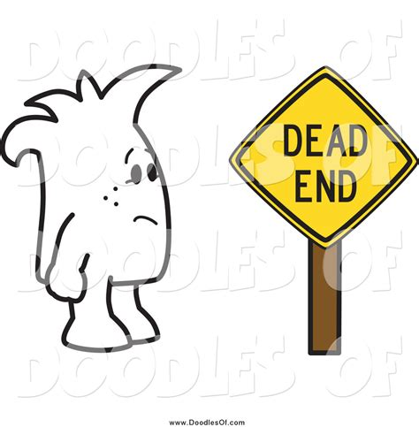 doodle ending vector clipart of a doodle by a dead end sign by